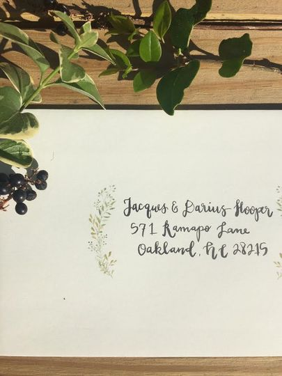 Calligraphy Invitation Addressing