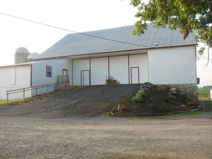North view of the barn