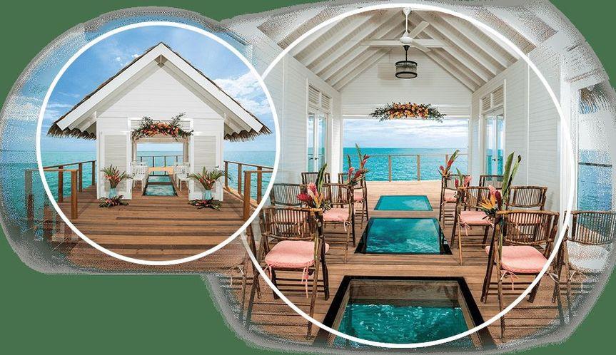 Get married in an over water wedding chapel