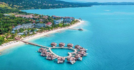 Over Water Bungalows at Sandals South Coast