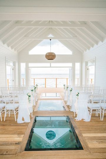 Over Water Wedding Chapel
