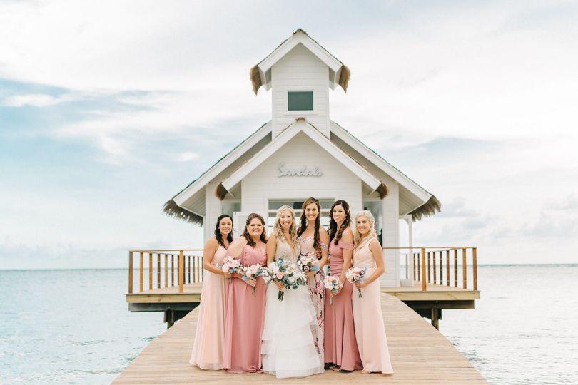 Sandals bridal party