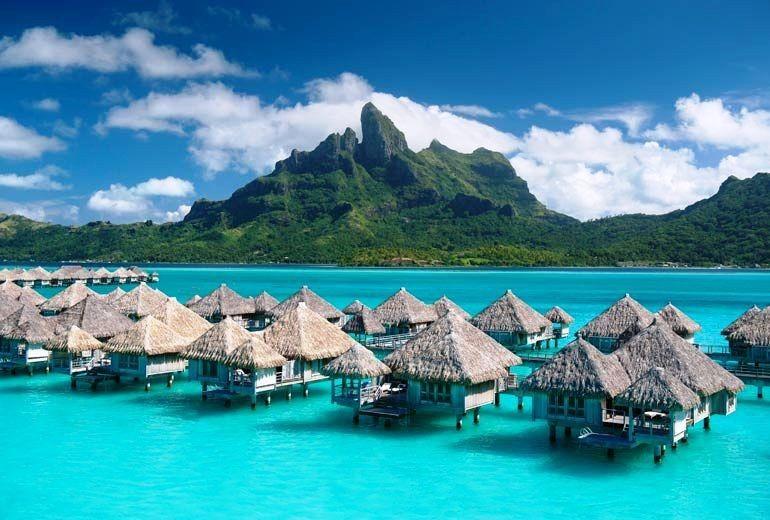Nipa huts on water