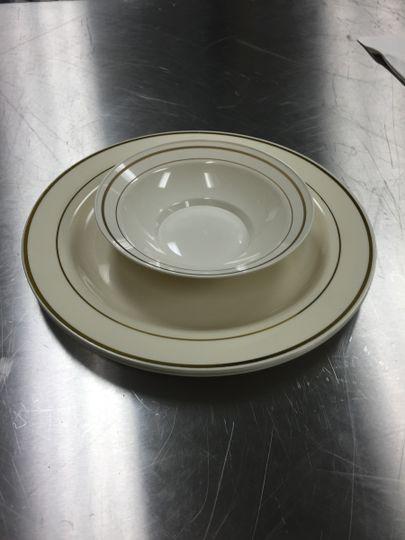 ivorygold plasticware
