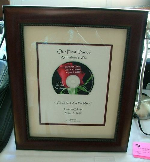 Framed first dance cd all couples get as a gift from us
