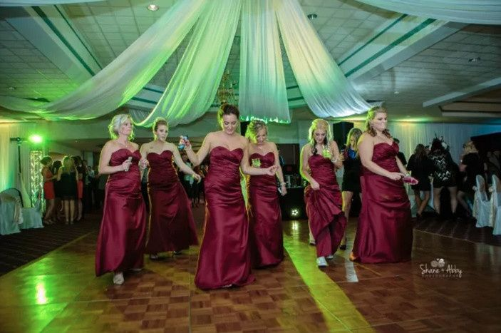 Bridal party performance