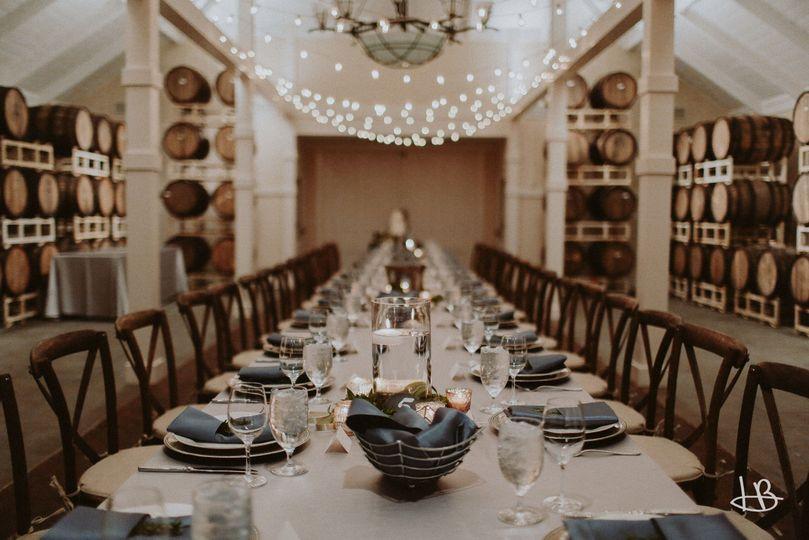 Rectangular dining table setup