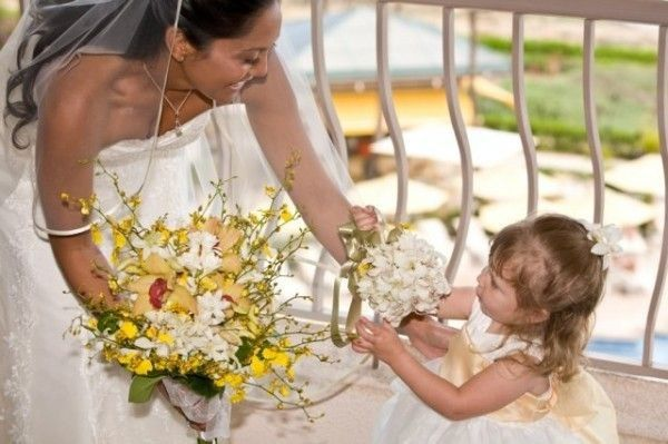 Bride and kid