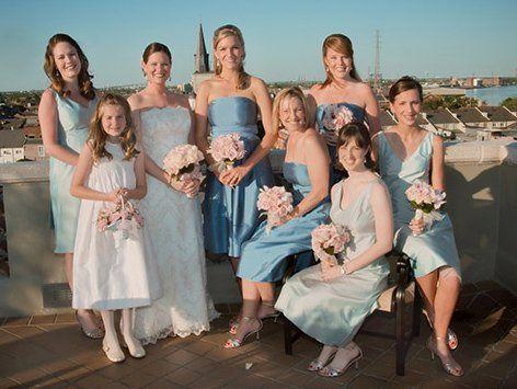 Blushing Bride & Beautiful Bridesmaids