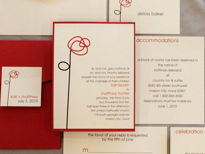 Tmx 1352840669306 Hoffman Coralville wedding invitation