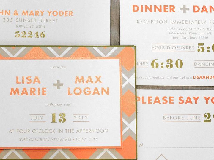 Tmx 1352840865645 LisaMax Coralville wedding invitation