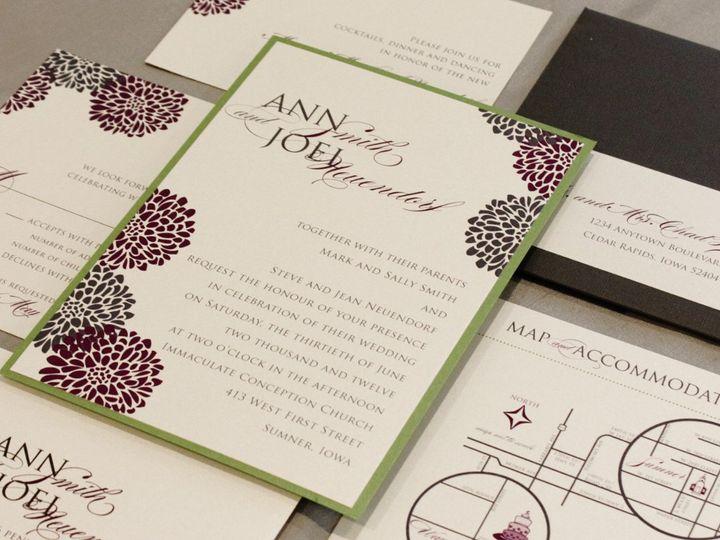Tmx 1352841480817 SmithA Coralville wedding invitation