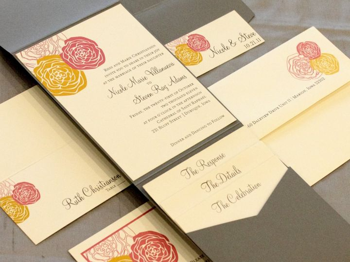 Tmx 1352841704227 Villanueva Coralville wedding invitation