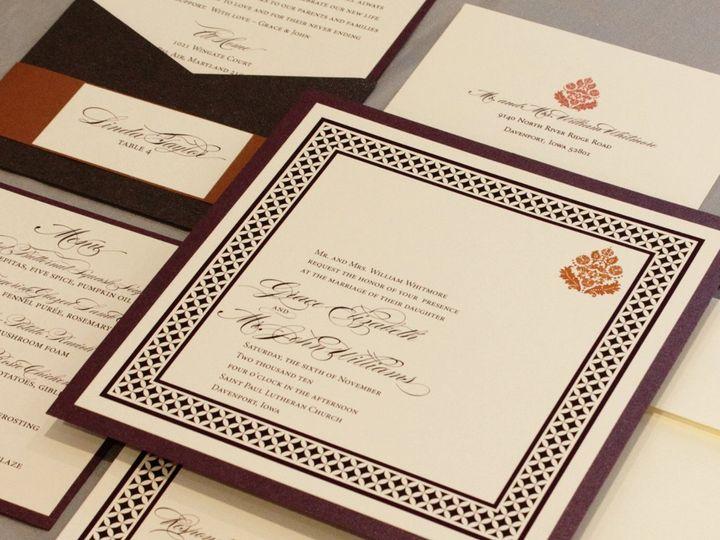 Tmx 1352841735621 Whitmore Coralville wedding invitation