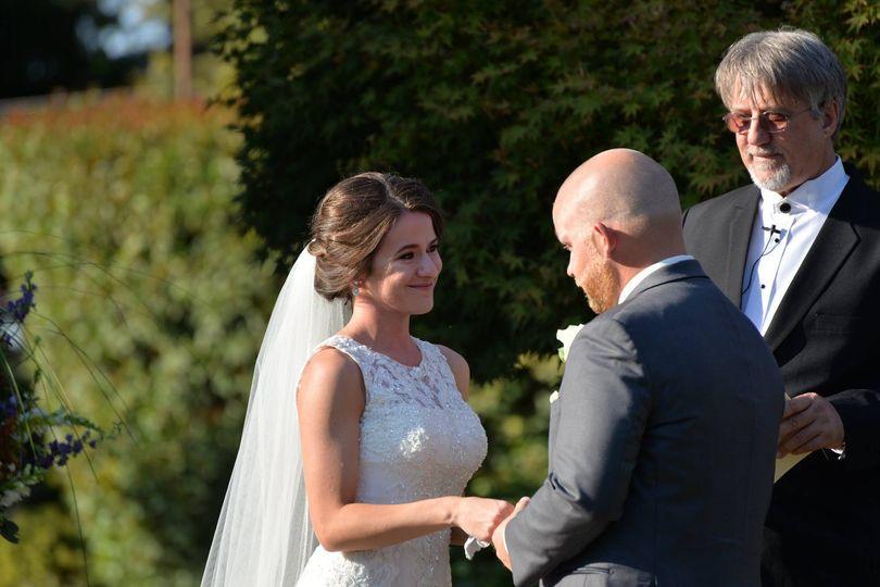 Happy bride | Photos by Anthony Corbin