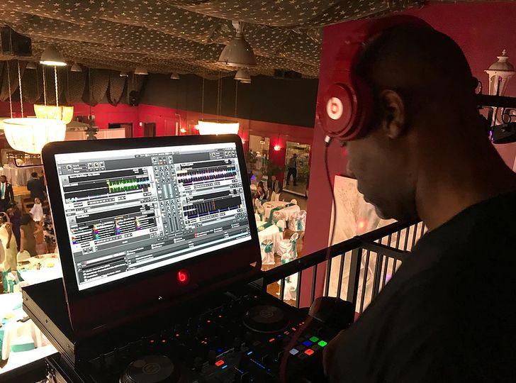 DJ at his deck