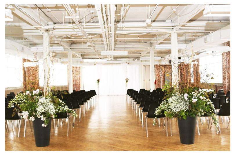 Aisle setup and decor