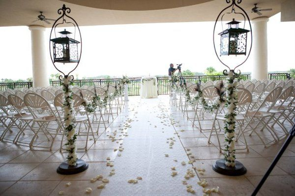 Wedding ceremony on our lovely lanai!