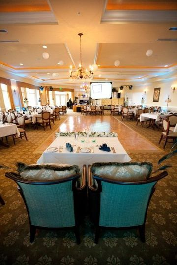 View of the main dining room from the bride & groom's sweetheart table!