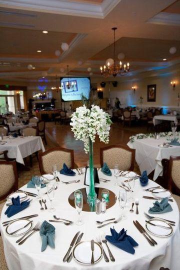 Reception banquet setup