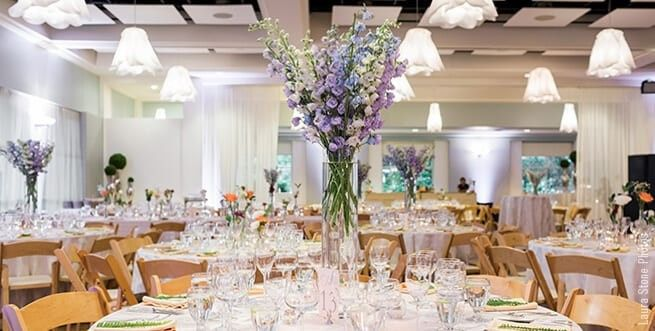 Wedding reception in day hall
