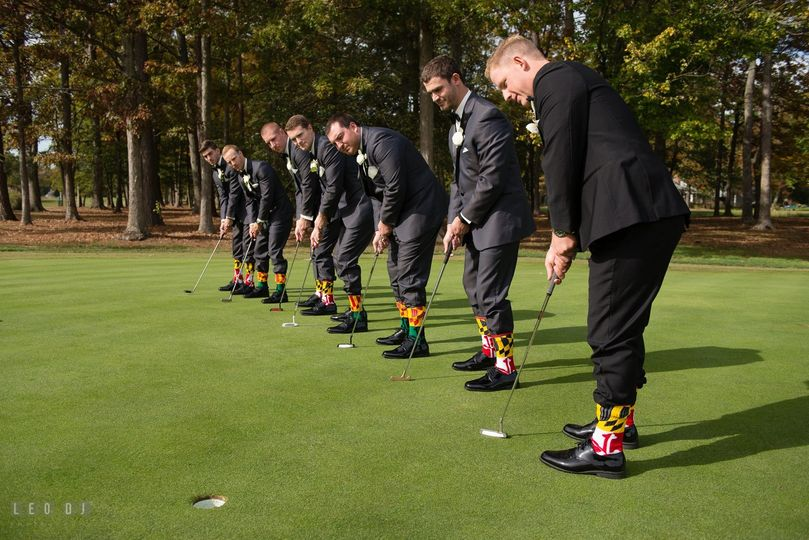 Groomsmen and golf