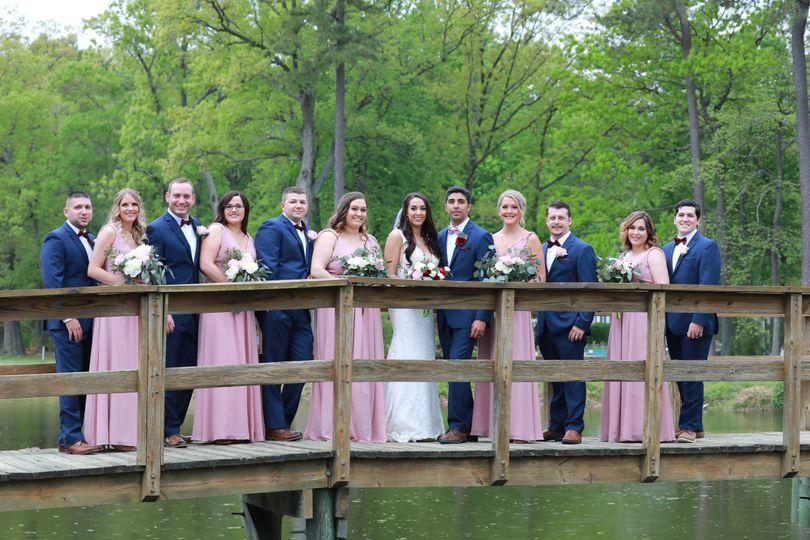 Group photo on the bridge