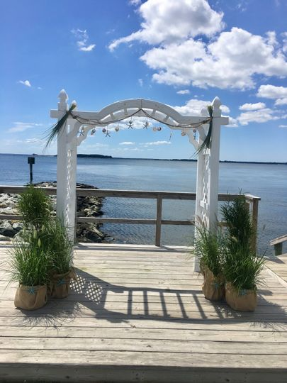 Arch by the lake