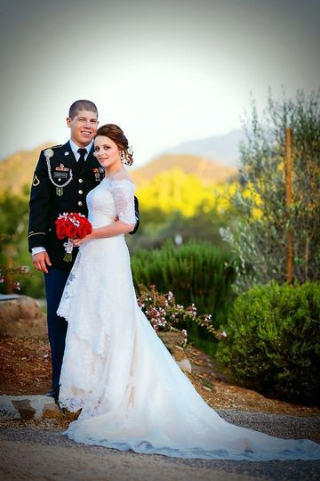 800x800 1420146857575 Modest Lace Overlay Wedding Dress With Sleeves And 1420146211094 Photo 3