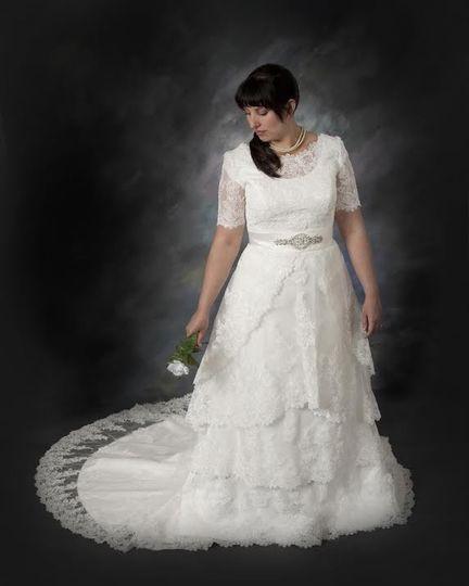 Long wedding giwn