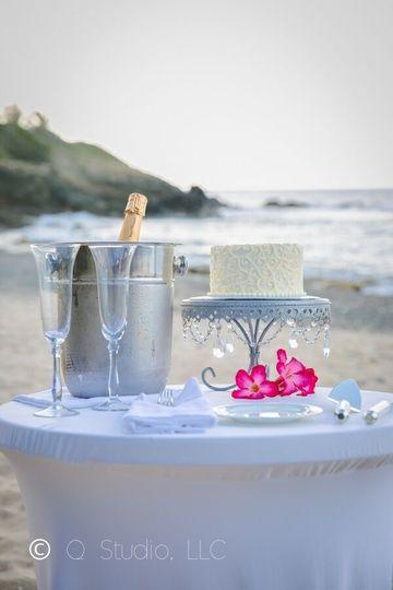 Elope Wedding Beach Table