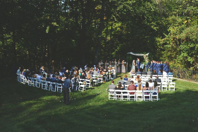 Ceremony in Lower Lawn
