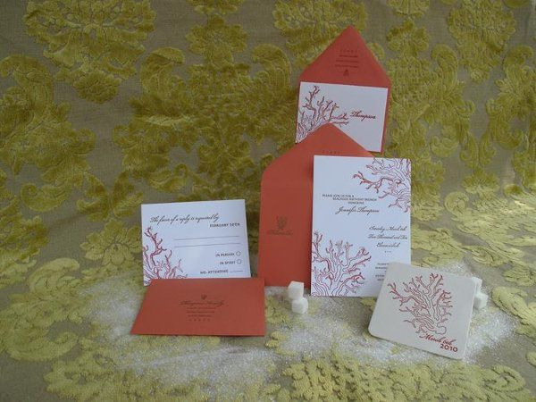 Tmx 1245883009718 CoralJewel Ventura wedding invitation
