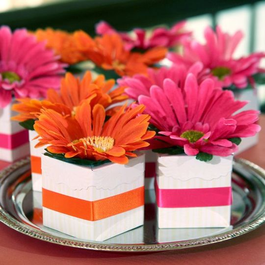 Dollar Tree Blooming Favor Boxes