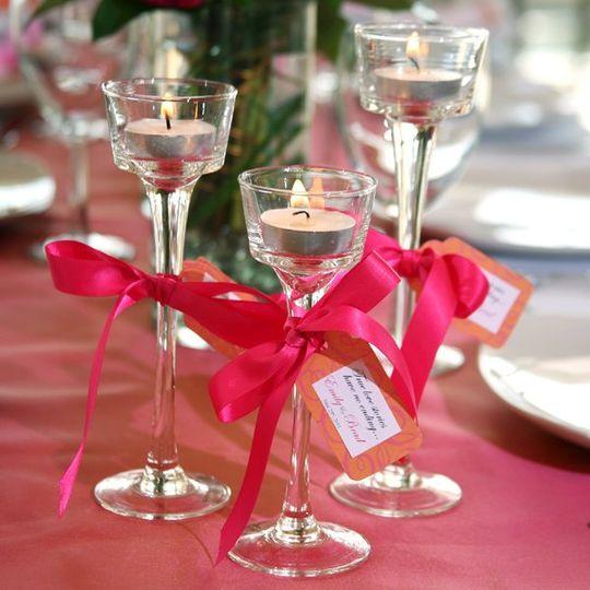 Dollar Tree Glass Tealight Candleholder Favors