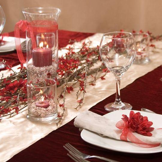 DollarTree.com Wedding Color Scheme Idea: Deep Burgundy, Rich Gold