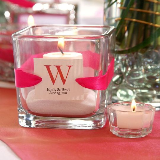 Dollar Tree Square Glass Candleholder Favors
