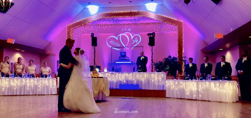 Uplighting & Personalized Monogram during the first dance