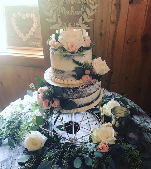 Rose Gold Naked Cake