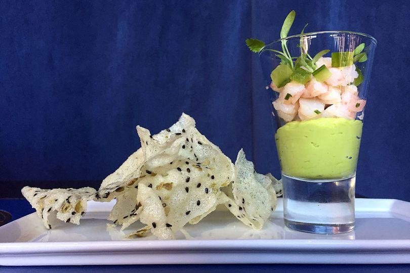 shrimp cocktail with marinated bay shrimp avoc cuc