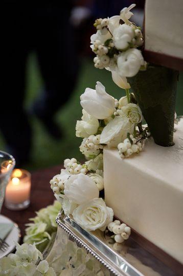 White flower decor