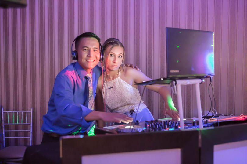 DJ and a bridesmaid!