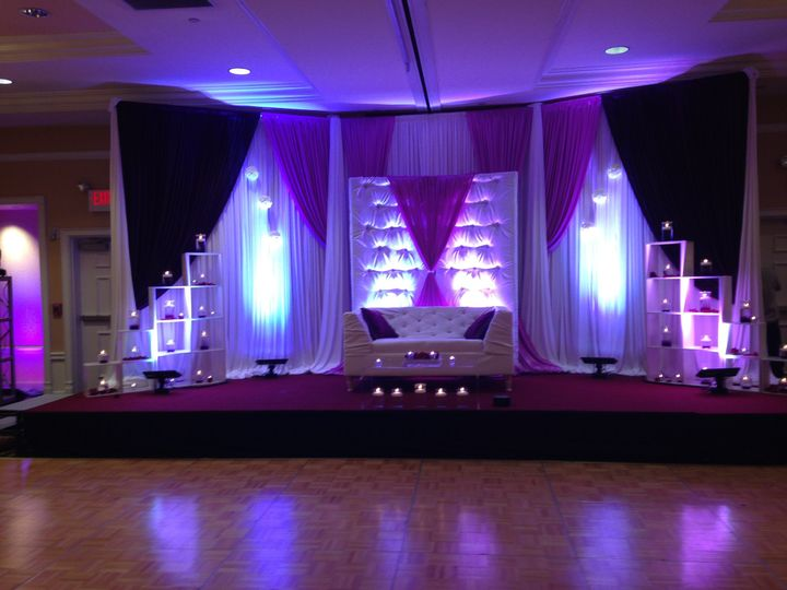 Ethnic wedding ceremony staging
