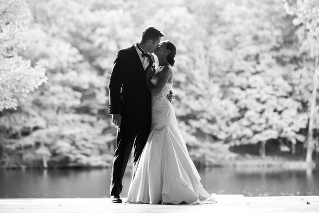 A kiss on the dock.