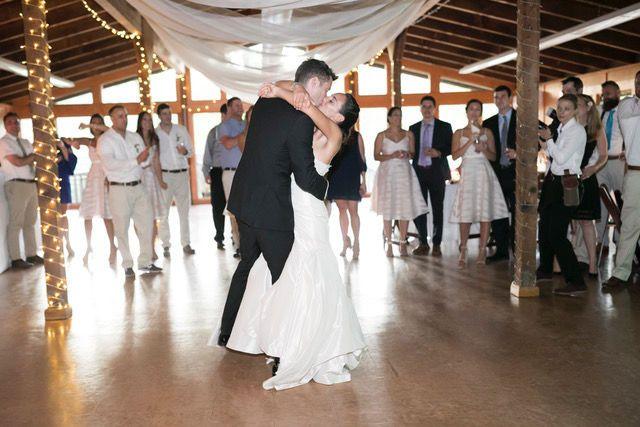 A kiss on the dance floor.