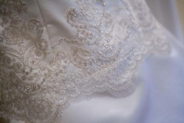 Detail of Gown by Elle Couture Designs
