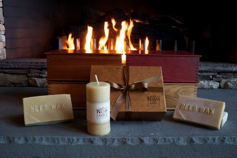 The WISH Candle is a 100% pure beeswax pillar candle.