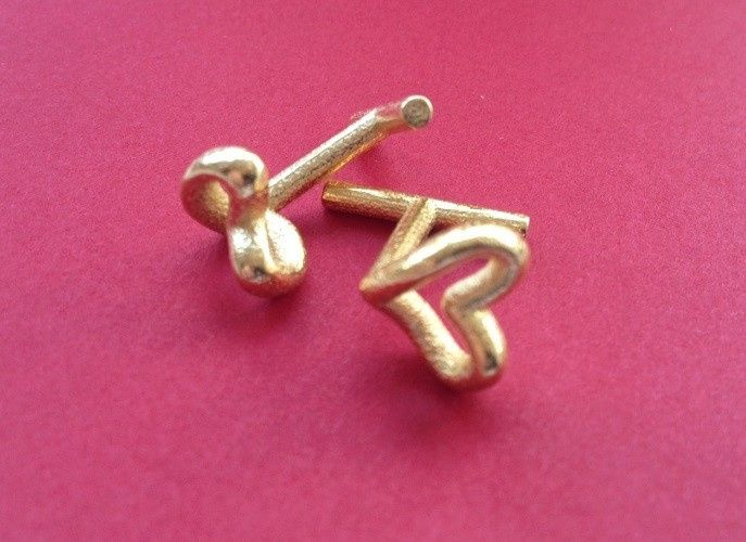 Infinite Love Cuff Links: A heart from the front, an infinity from the top. Available in various...
