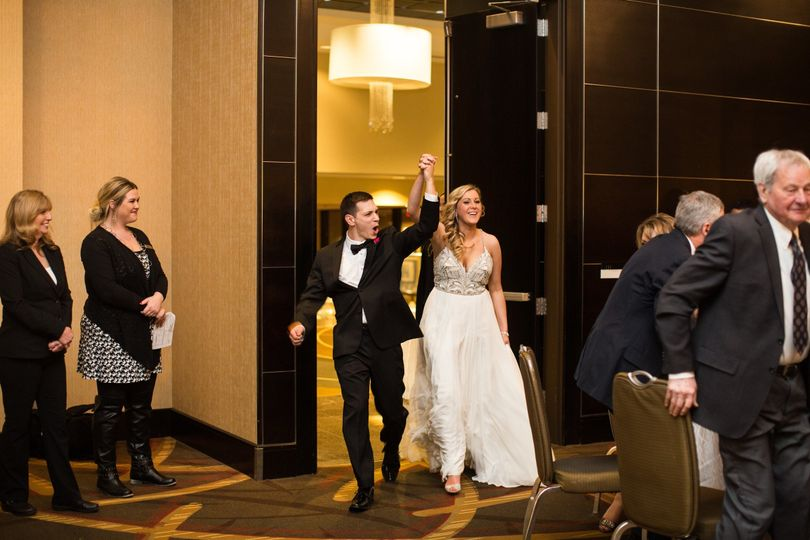 Newly-wed grand entrance