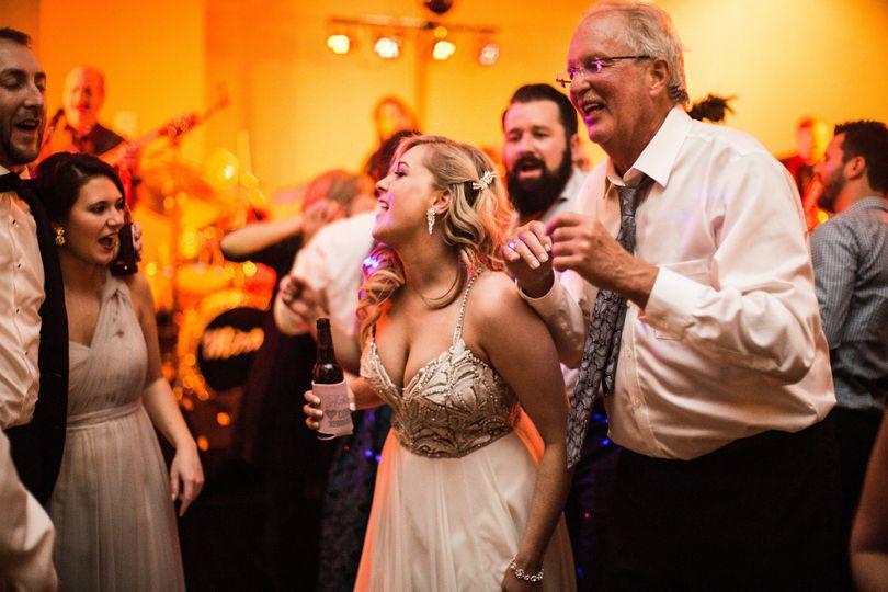 The bride unwinding!